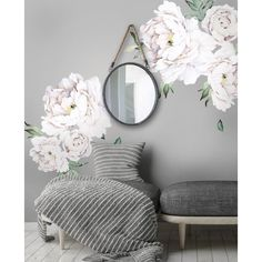 Peony Flowers Wall Decal