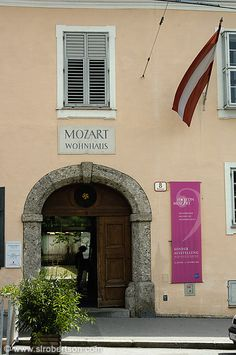 Wolfgang Amadeus Mozart's Apartment and now museum in Salzburg, Austria. To see the actual written music of my favorite classical composer was a dream come true.
