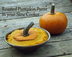 Make Roasted Pumpkin Puree using a Slow Cooker!
