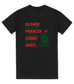Reindeer Names Daryl Dixon Christmas Tee Shirt http://skreened.com/
