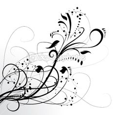 abstract tattoos | Abstract floral background, element for design. — Stock Vector ...