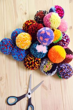 These adorable colorful pom poms. Featured Shop: Yu Square | The Etsy Blog