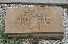 Lizzie L. <i>Scroggins</i> Kendley