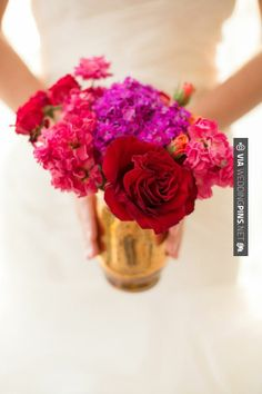Cool! - Purple, red, and pink centerpiece   Amanda Hedgepeth Photography     CHECK OUT MORE GREAT RED WEDDING IDEAS AT WEDDINGPINS.NET   #weddings #wedding #red #redwedding #thecolorred #events #forweddings #ilovered #purple #fire #bright #hot #love #romance #valentines