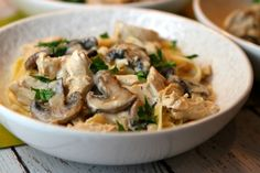 Chicken and Mushroom Fettuccine