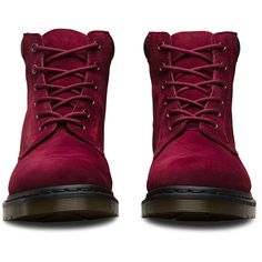 Dr. Martens Leather 939 Boots (5.190 RUB) ❤ liked on Polyvore featuring shoes, boots, wine, leather shoes, real leather shoes, leather boots, dr. martens and genuine leather boots