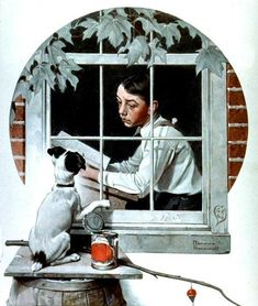 "Norman Rockwell - ""Patient Friend"""