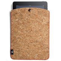 FSC certified cork sleeve for ipad- available at Crate and Barrel. Most FSC-certified cork comes from low-intensity harvests by producers in Spain and Portugal