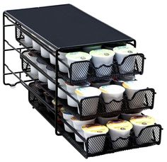 Nex Coffee Pod Storage Drawer For Dolce Gusto 36 Pod Capacity Soft And Antislippery K-cup Pods