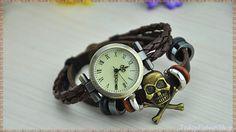 BronzeSkull Watch Unisex Vintage watch by TodayFashionShop on Etsy