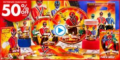 Power Rangers Party Supplies - Power Rangers Birthday