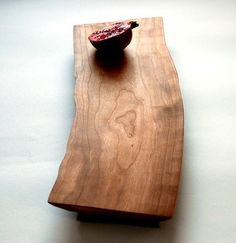 Cherry Wood Cutting Board Rustic Serving Platter