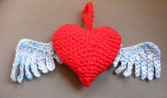 Crochet For Free: Flying Heart Pattern