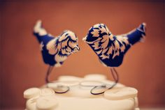 I am not doing that 'plan your wedding before you even know if you'll ever have one' thing, but I just really like these birds. Cute cake topper for any cake. :)