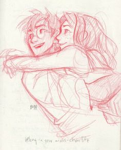 Harry and Ginny. Art by Burdge