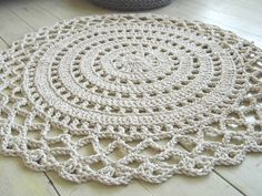 Crochet Rope Giant Doily Rug 100% Cotton by ELITAI on Etsy
