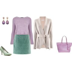 """Light Summer Soft - lavender/ aquamarine green"" by adriana-cizikova on Polyvore"
