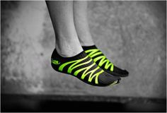 ZEMgear creates performance protection for bare feet. Cooler than those finger shoes in my opinion. $60.