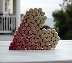 Ombre Cork Heart by TheWineThief on Etsy, $35.00