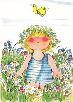 Art - Whimsical, Niityllä  (In the meadow)