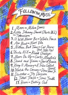 Follow the Muse playlist. From Rookie. Illustration by Minna.