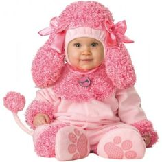 Lil Characters Unisex baby Newborn Poodle Costume