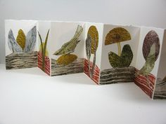 Collaged Accordian Book