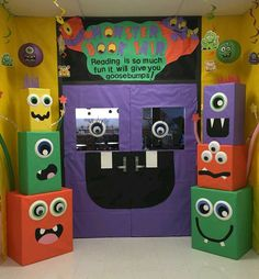 Halloween Classroom Decorations which are Scary, Spooky & Simply the Best - Ethinify Monster Party, Monster Box, Monster Book Of Monsters, Monster Mash, Monster School, Monster 1st Birthdays, Monster Birthday Parties, First Birthday Parties, First Birthdays