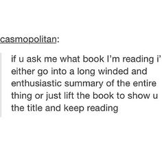 I usually never do this because I'm really bad at describing things so I usually just say a book