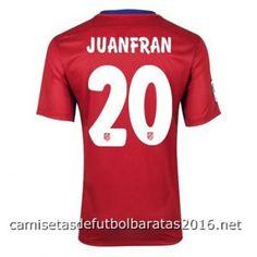 Camiseta Atletico de Madrid JUANFRAN 2016 1ª equipación