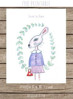 Free Printable Print and Card 'Love is Free' http://cecrisicecrisi.blogspot.it/2015/02/handmade-valentine-blog-tour.html
