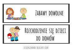 Dzieckiem bądź: Ilustrowany plan dnia DO POBRANIA Winnie The Pooh, Disney Characters, Fictional Characters, Preschool, Family Guy, How To Plan, Education, Google, Therapy