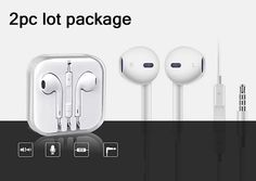 2pc OEM Apple Earpods Headset 3.5mm AUX Multi Function For Apple iPhone 5/6/S #Velben