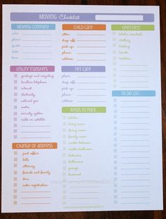 moving checklist planner printable | Moving Checklist 1 document INSTANT by CleanMamaPrintables  www.dumbomoving.com www.twitter.com/dumbomoving www.facebook.com/dumbomoving www.linkedin.com/company/dumbo-moving-and-storage