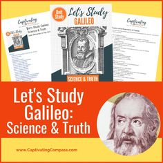 There is much to learn about this amazing inventor and mathematician and his incredible contribution to science. Get the most out of learning about the incredible life and works of Galileo with the Let's Study GalileoUnit Study. Science Curriculum, Science Resources, Science Lessons, Homeschool Curriculum, Science Activities, Science Projects, Homeschooling, Earth And Space Science, Social Studies Activities