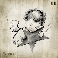 Beautiful Vintage Baby Angel LARGE Digital Image Download Sheet Transfer To Totes Pillows Tea Towels T-Shirts -88