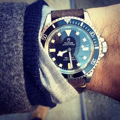 TUDOR Vintage #tudorwatch Submariner issued to the French Marine Nationale in 1974. (at Amy's Bread)