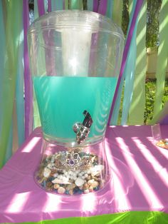 Little mermaid drink station