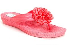 Ella Chiffon Woven Jelly Shoes in coral - £5    http://www.mr-shoes.co.uk/Products/ella-chiffon-woven-jelly-shoes-#