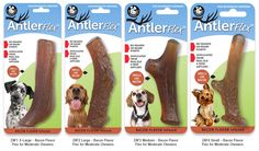 Antler Flex Bacon Infused for Moderate Chewers are safe alternative to a natural favorite. Inspired by real Elk & Deer antlers. Antler Flex are designed for moderate chewers. Eliminate the fear of shards and sharp points from harvested antlers. #dogchews #dogtoys #chewy #dogs #