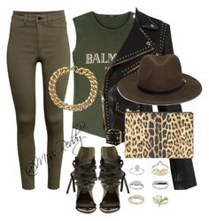 """""""Untitled #26"""" by missreddy on Polyvore featuring H&M, Ivy Kirzhner, Balmain, Alexander McQueen, Forever 21, Givenchy, Topshop and Michael Kors"""