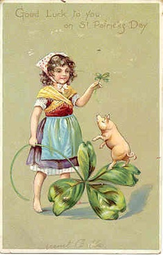 """"""" Good Luck To You """" Vintage Saint Patricks Day Post Card. Published by Tuck and Son, London, England, with an embossed surface, UDB with writing on back and in Excellent condition. Karodens Vintage Post Cards at www.bonanza.com/booths/karoden"""