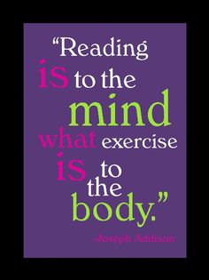 Exercise and books