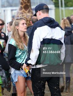 Cressida Bonas talks to actor Will Poulter at the Glastonbury... News Photo 451386648