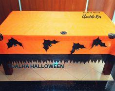 Toalha para mesa de Halloween 1,40x2,20 com detalhes