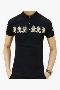 Elegant Polo T-Shirt In Black