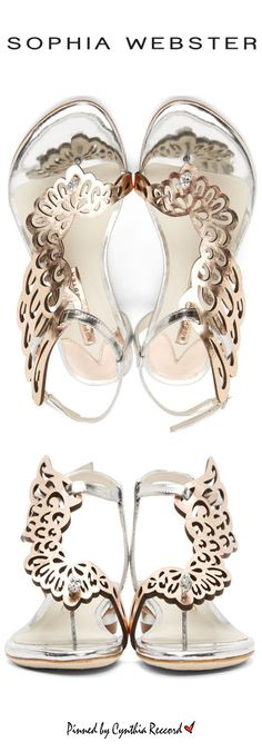 Sophia Webster Rose Gold & Silver Wing Seraphina Sandals | SS 2015 | cynthia reccord