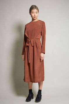 No.6 Simone Dress in Babyheart Rust