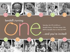 Love this 1st birthday invitation