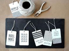 Modern printable gift tags